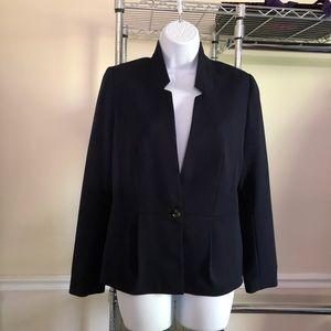H & M Navy Blue 1-Button Blazer 10
